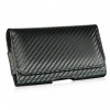 HTC HD2 Carbon Fiber Horizantal Leather Black