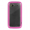 HTC Sensation 4G Candy Case Hot Pink Trim with Clear Hard Back