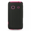 Samsung Prevail Hot Pink Skin Case with Black Rubber