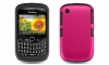 BlackBerry 8520 Curve 2 Black Skin & Pink Rubber Case