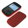BlackBerry Curve 2 8520/8530/9300/9330 Skin/Snap Black & Red