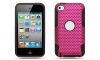 iPod Touch 4 Hybrid Case Black Skin/Pink Apex Case