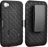 iPhone 4/4S Rubberized Shell Holster Combo Black