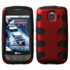 LG Optimus S/ U/ V Red/ Black Fishbone Snap On