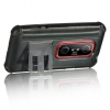 HTC Evo 3D Platinum Fusion Black TPU/Smoke PC with Stand