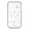 iPhone 4/4S Cystal Skin Case Clear Flower