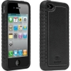 iPhone 4/4S Black Skin with Leather Back