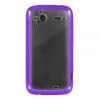 HTC Sensation 4G Candy Case Purple Trim Clear Hard Back
