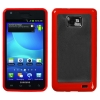 Samsung i777 Attain Gummy Cover Clear & Red