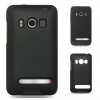 HTC Evo 4G Hybrid Case Black Skin & Black Rubber Case