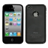 iPhone 4/4S Transparent Clear/Solid Black Gummy Cover