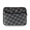 Laptop Exotic Pouch Universal 10.2 Inch Horizontal Gray/Red Checker