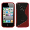 iPhone 4/4S Flexible Plastic Transparent Gummy Protector Cover Case Red