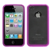 iPhone 4/4S Transparent Purple Gummy Cover