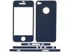 Carbon Fiber Design for Apple iPhone 4/4S (Navy Blue)