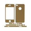 Carbon Fiber Design for Apple iPhone 4/4S (Gold)