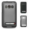 HTC Evo 4 Hybrid Black Skin with Dark Grey Rubber