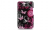 HTC HD2 Design Crystal Case Pink Butterfly Snap On