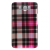 HTC HD2 Design Hot Pink Checkers Plaid Print Snap On