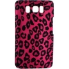 HTC HD2 Design Crystal Case Hot Pink Leopard Snap On