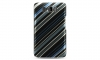 HTC HD 2 Design Crystal Case Blue / Black Stripe Snap On