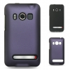 HTC Evo 4G Hybrid Case Black Skin & Purple Rubber Case