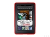 Amazon Kindle Fire Anti-Slip Grip Red Skin