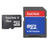 SanDisk MicroSD 16GB with Adapter Memory Card