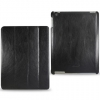 Reiko Notebook-Style Leather Case Black