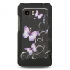 HTC Vivid Purple Butterfly Snap On