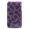 iPhone 3G/3GS Purple Leopard Diamante