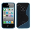 iPhone 4/4S Blue Flexible Transparent Gummy Cover
