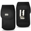 Reiko HTC HD2 Vertical Pouch Black with Metal Clip