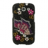 Samsung Galaxy S III Black Rainbow Butterfly Diamante