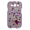 Samsung Galaxy S III Purple Hearts Diamante