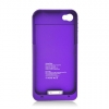 iPhone 4/4S Charging Case  Case 1900mAh Purple