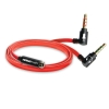 NoiseHush AS14 Headset - PC Adapter Flat Red Cable