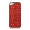 Apple iPhone 5 Chrome Case Studded Diamond Red