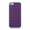 Apple iPhone 5 Chrome Case Studded Diamond Purple