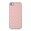 Apple iPhone 5 Chrome Case Studded Diamond Pink