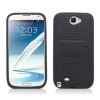 Samsung Galaxy Note II Skin/Snap With Stand Black