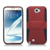 Samsung Galaxy Note II Skin/Snap With Stand Red