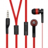Bullet Stereo Headphones Black and Red