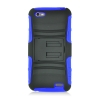 HTC One V Rugged Skin/Snap Black and Blue