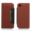 Apple iPhone 4/ iPhone 4S Brown Flip Cover