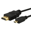 3 Feet High Speed HDMI with Ethernet Micro HDMI to HDMI Cable